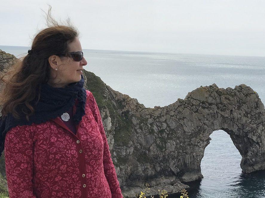 Claudia Günter bei einer Reise in England